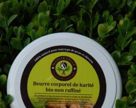 Beurre de karité pur non raffiné/150g